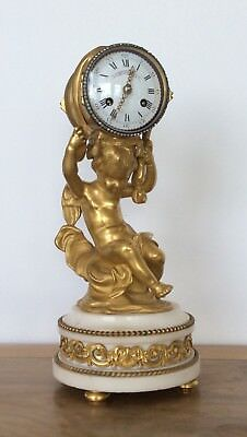 French Ormolu Mantle Clock By Henry Dasson Circa 1870.