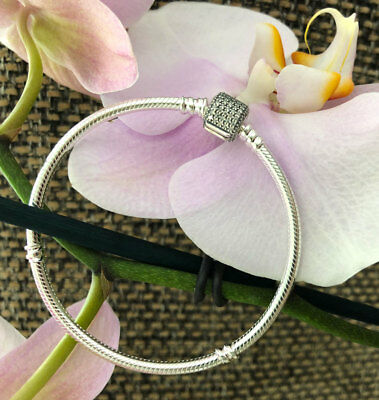 Pandora Signature Clasp Bracelet Sterling Silver All Sizes Available #590723CZ