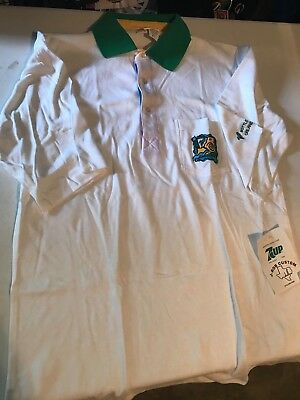 Vintage J-Rob Custom 7 Up Bottler Meeting Orlando 1992 Collard Shirt XL *NEW*