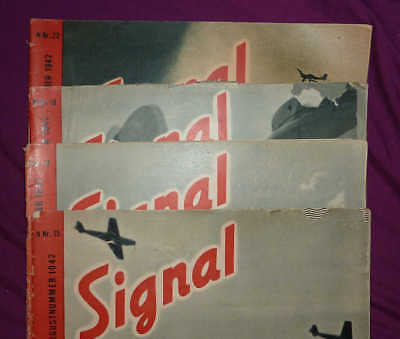 Signal magazines, Norwegian edition (N), 1942 Nrs 15, 17, 18 and 22