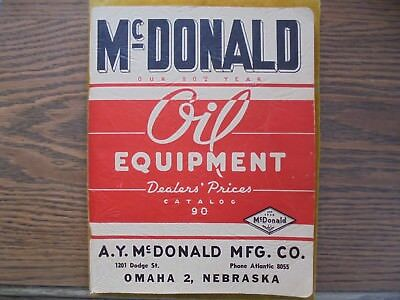 VINTAGE STUNNING McDONALD SERVICE STATION CATALOG FROM 1940'S-GAS PUMPS OIL/GAS