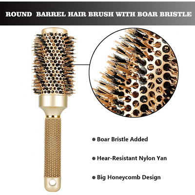 Nano Thermal Round Hair Brush Ceramic Barrel for Straightening 1.8inch