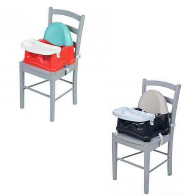 Safety 1St Booster With Swing Tray Grey Patches/Red Lines
