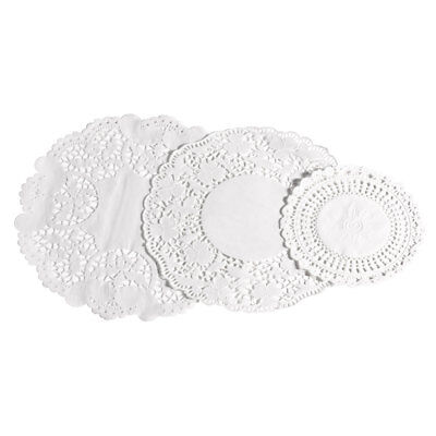 Premier Set of 30 White Paper Lace Doilies in 3 Sizes with Round Shape Coasters