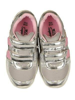 M&S Kids Baby Girls Trainers Pink/Silver/ Pink Mouse Size Infant 4 6 9 LAST FEW