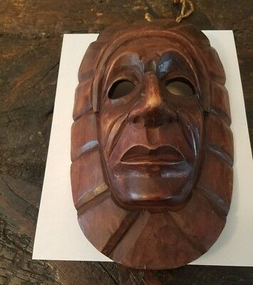 Hand carved Native American wooden mask