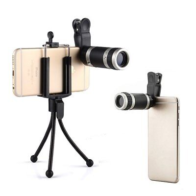 Best 8X Optical Zoom Telescope Camera Lens Kit Tripod For Cell Phone Smartphone