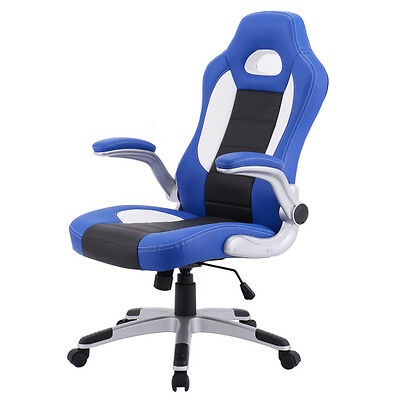 Gaming Chair Racing Style High Back PU Leather Computer Executive Office Desk BL