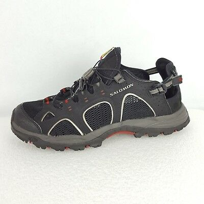 dc28379d4965 SALOMON MENS TECHAMPHIBIAN 3 Black Water Grippy Slip On Shoes Sz 9 -  22.49
