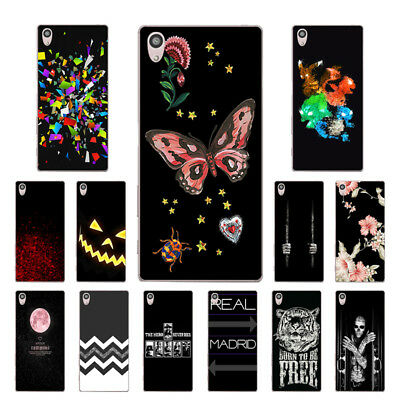 "5.2"" Soft TPU Silicone Case For Sony Xperia Z5 Phone Back Cover Skins Black"