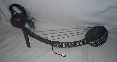 African Arched Gourd Harp Hand Made Musical Instrument Kora Unique Rattle