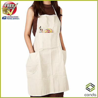 "31x27"" Artist Apron Professional Extra Large Canvas Adjustable Artist Apron"