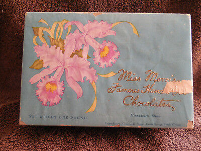 Vintage Miss Morris Famous Hand Roll Chocolates Empty Candy Box