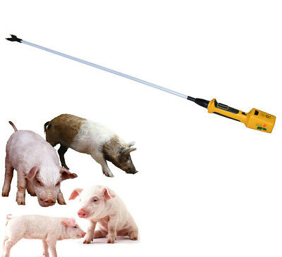 """52"""" Hot-Shot Electric Livestock Prod Cattle Pig Wand AC and DC"""