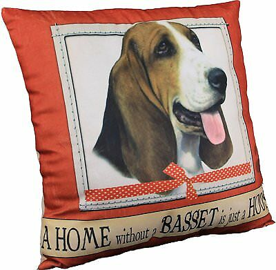 E&S Pets Large Dog Design Throw Pillow 16 x 16 inches - Basset Hound