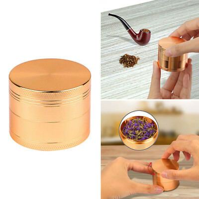 4 Parts 2 Inch Tobacco Herb Grinder Spice Herbal Zinc Alloy Smoke With Scoop US