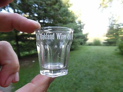 The Oakland Wine Co. Main St. Richmond Indiana Sided Pre Pro Shot Glass