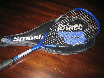 PRINCE SMASH Graphite Matrix Badminton Racquet with Case- Blue- Nice Shape!