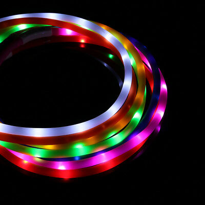 USB LED Dog Pet Safety Collar Night Light Up Glow Adjustable Bright RECHARGEABLE