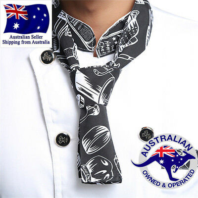 Tableware Fashion Print Neckerchief Chef Scarf Waiter Waitress  Hotel Restaurant