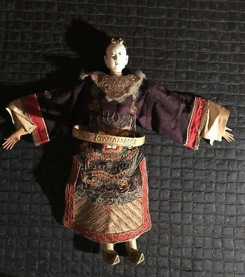 Rare Antique Chinese Opera Doll Signed
