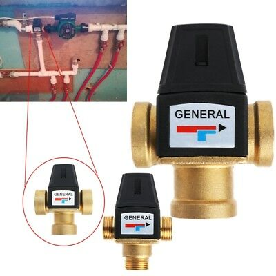 """3 Way DN20/DN25 Brass Male Female Thread Water Thermostatic Mixing Valve 3/4"""" 1"""""""