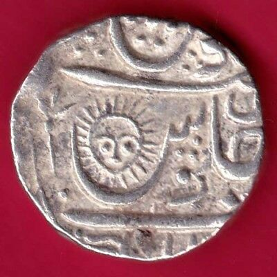 Indore State - Sun Face - One Rupee - Rare Silver Coin #ky11