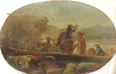 17th 18th Century Italian Soldiers Landscape Old Master Sketch Salvator ROSA