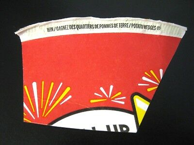 Tim Hortons Canada Roll Up The Rim To Win Contest Coupon WIN POTATO WEDGES