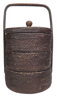 Vintage Vietnamese Basket - 3 Tier Removable Sections