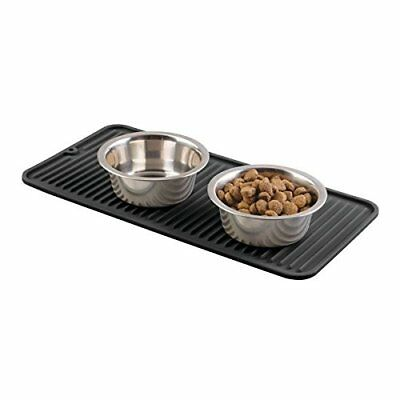 "mDesign Silicone Pet Food & Water Bowl Feeding Mat for Dogs - 16"" x 8"", Small,"