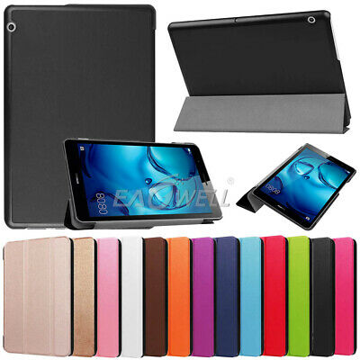 "For Huawei MediaPad T3 7"" 8"" 10"" Tablet Folio Slim PU Leather Case Stand Cover"