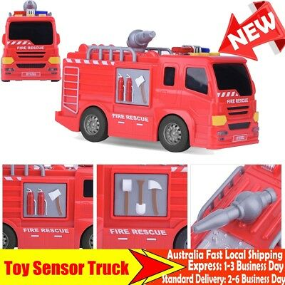 Clearance! Creative Fire Truck Car Model Inductive Children Kids Educational Toy