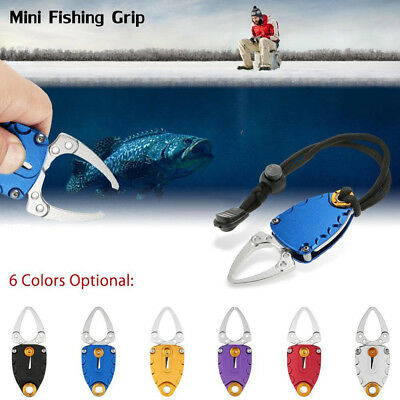 LC_ Portable Aluminum Mini Fish Lip Grip Gripper Grabber Grips Fishing Tackle