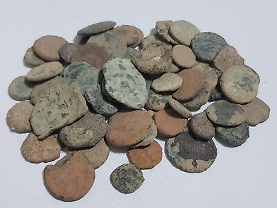 Lot Of 60 Pcs Ancient Roman Coins Some Byzantine.