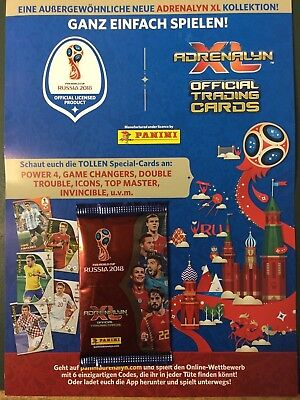Panini Adrenalyn XL World Cup Russia 2018 10 Booster 60 Trading Cards WM