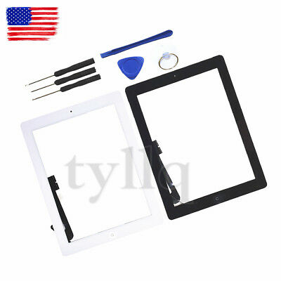 Touch Screen Digitizer Replacement For Apple iPad 2/3/4/ &Air & Mini Black/White