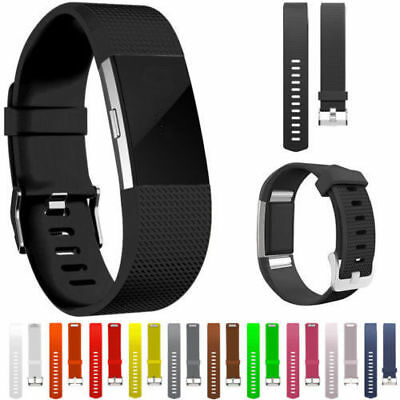 For Fitbit Charge 2 / HR Strap Replacement Bands Silicone Fitness Wristband