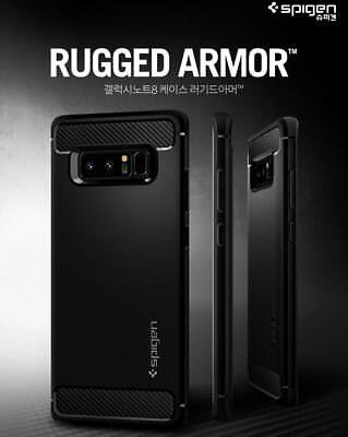 Samsung Galaxy Note 8 9 Case For Spigen Rugged Armor Strong Flex Soft TPU Cover
