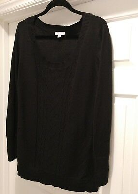 liz lange maternity black sweater size xxl