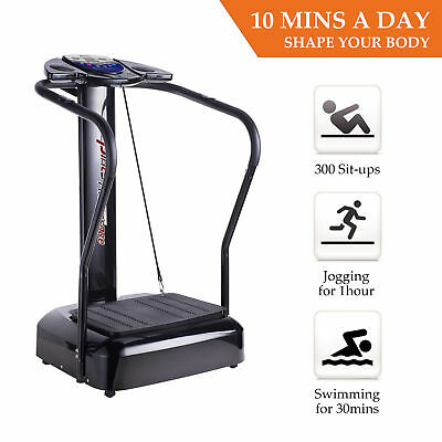 2000W Fitness Whole Body Vibration Plate Trainer Machine W/Arm Straps