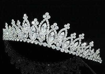 Bridal Wedding Sparkling Tiara Prom Accessories use Swarovski Crystal CT1494