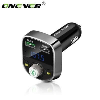 Bluetooth Car FM Transmitter Dual USB QC3.0 Ladegerät Musik Player MP3/WMA/FLAC