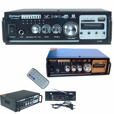 PDR*amplificatore audio stereo 2ch. bluetooth karaoke mp3 radio fm hi-fi 806BT