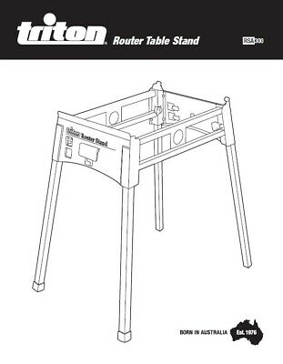 Triton Router Table Stand RSA300 Assembly & Operating Manual