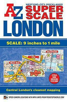 Super Scale London Street Atlas by Geographers' A-z Map Company (English) Paperb