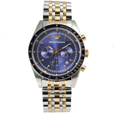 6a3837c1d 100% New Emporio Armani AR6088 Two-Tone Stainless Steel Men's Chronograph  Watch