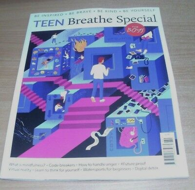 Teen Breathe magazine Special 2018 For Boys; Handle Anger, VR, Watersports &more