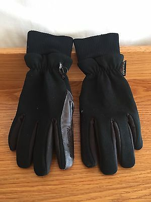 womens thinsulate hotfingers wells lamont 45% leather 55% nylon gloves size L