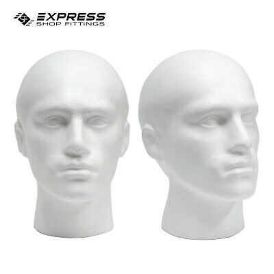 Polystyrene Male Display Head Mannequin